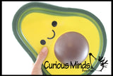 JUMBO Avocado Squishy Slow Rise Foam Food Fruit -  Scented Sensory, Stress, Fidget Toy