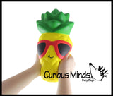 JUMBO Pineapple Squishy Slow Rise Foam Fruit -  Scented Sensory, Stress, Fidget Toy