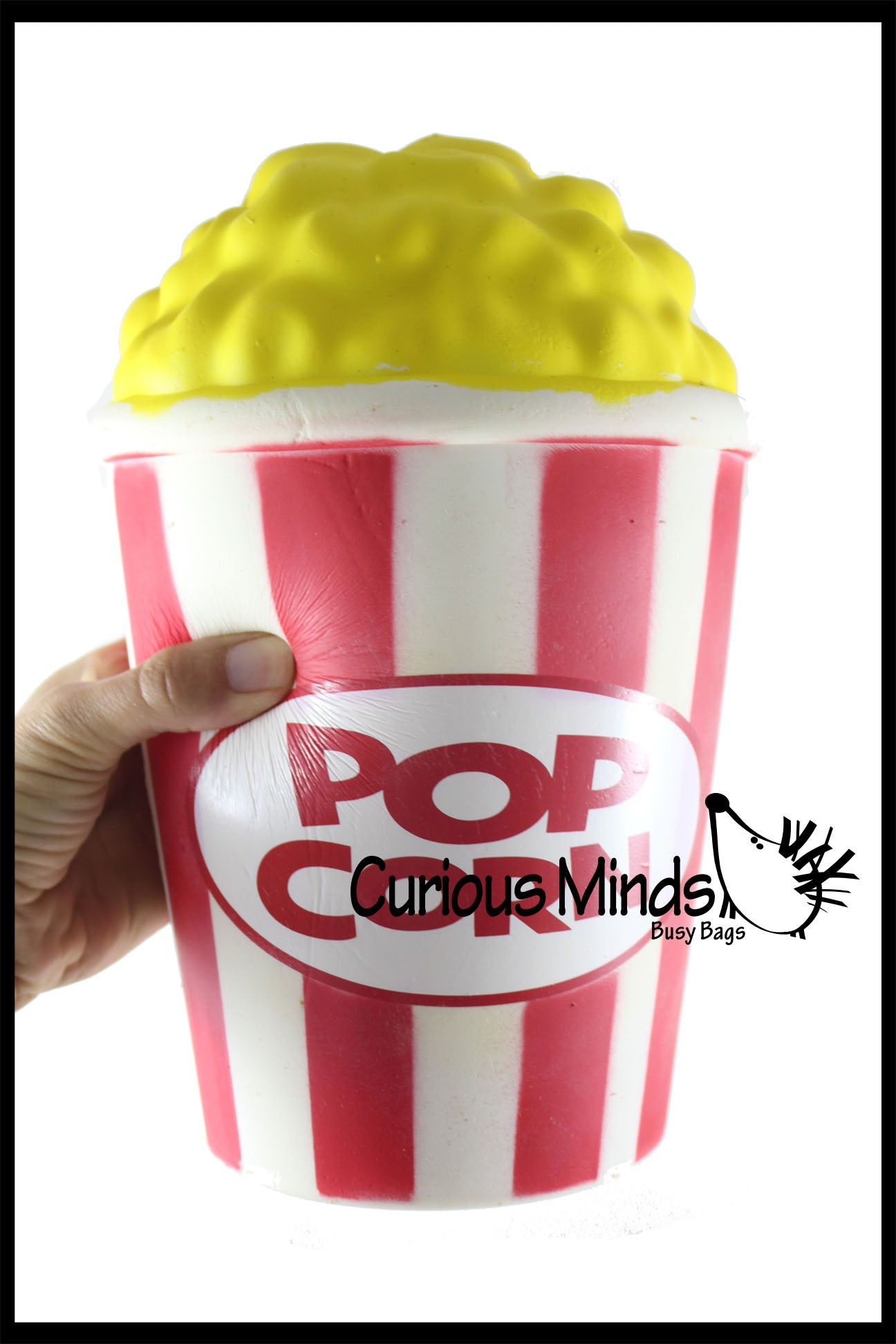 JUMBO Popcorn Squishy Slow Rise Foam Junk Food -  Scented Sensory, Stress, Fidget Toy