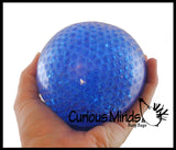 "Jumbo 4"" Water Bead Filled Squeeze Stress Ball  -  Sensory, Stress, Fidget Toy"