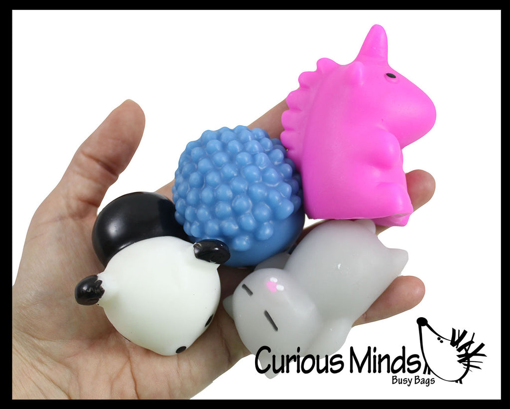 Jumbo Animal Mochi Squishy Animals - Kawaii -  Cute Individually Wrapped Toys - Sensory, Stress, Fidget Party Favor Toy