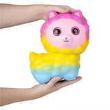 JUMBO Alpaca Squishy Slow Rise Foam Pet With Sparkle Eyes Animal Toy -  Scented Sensory, Stress, Fidget Toy