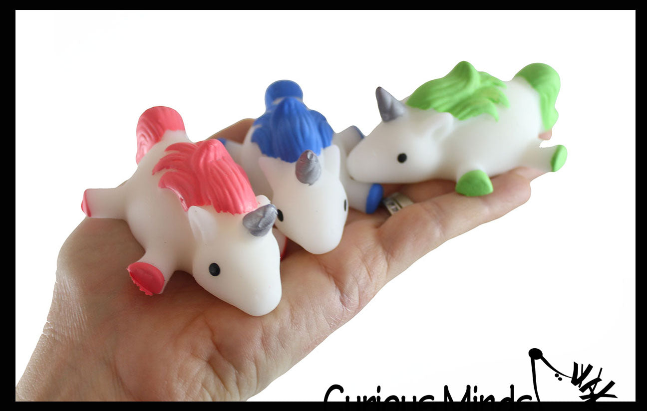Jumbo Unicorn Animal Mochi Squishy  - Adorable Cute Kawaii - Individually Wrapped Toys - Sensory, Stress, Fidget Party Favor Toy