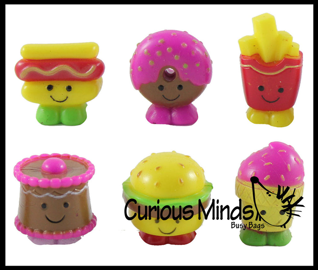 Cute Junk Mini Fast Food Figurines Replicas - Math Counters, Sorting or Alphabet Objects, Playset Toy