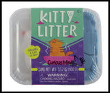 Kitty Litter - Funny Gag Toy - Play Sand with Mochi Cat - Play Magic Wet Sand - Moving Sand  Set - Funny Crazy Cat Lover Gift