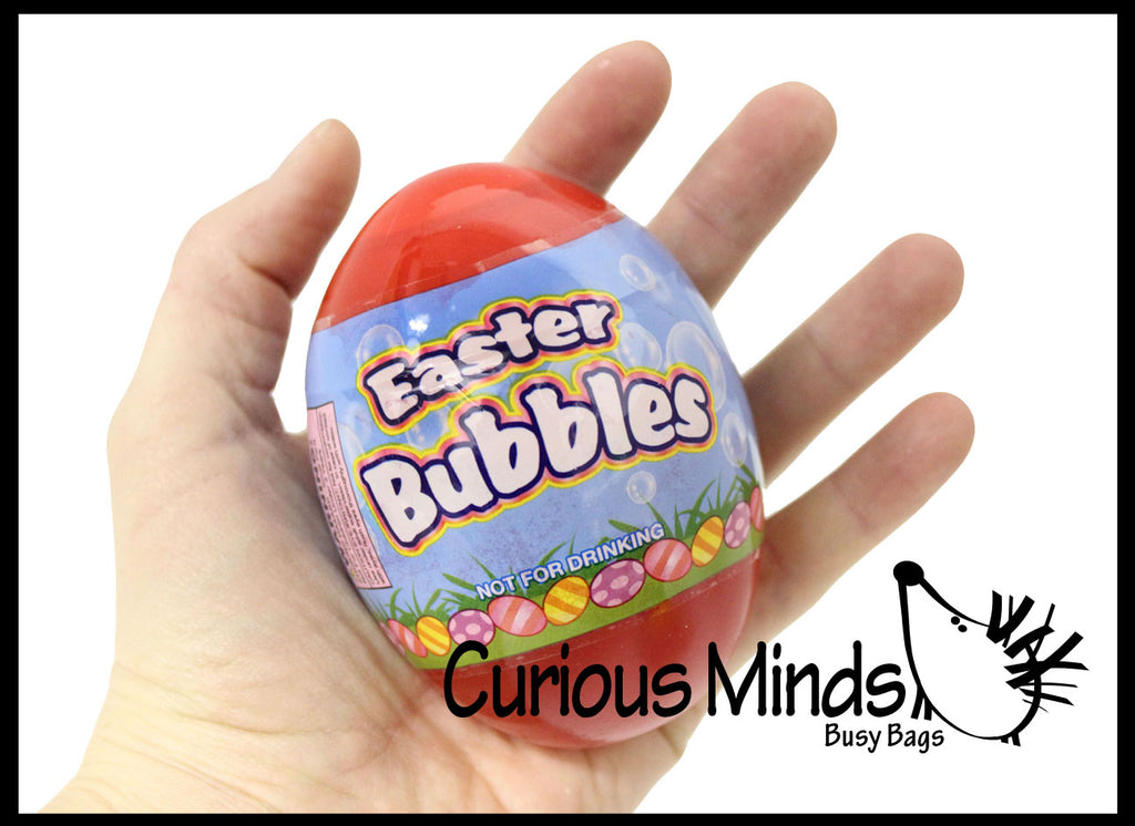 Large Easter Egg Bubbles with wands - Cute for Easter Baskets