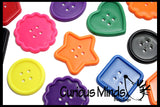 BULK Large Lacing Buttons (one pound approx 96 buttons) Busy Bag - Perfect fine motor learning activity for toddlers and preschoolers. Sort by color and shape