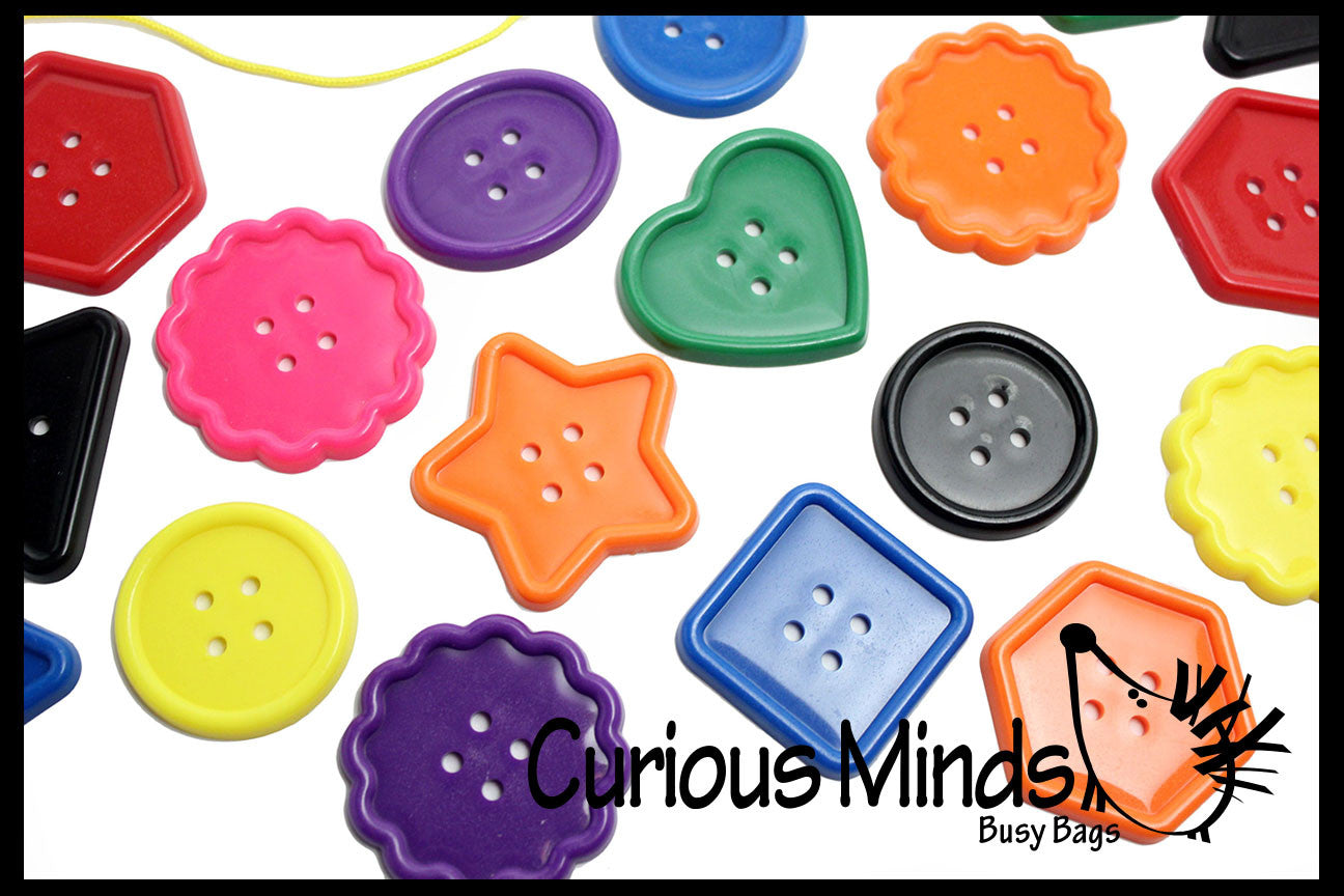 BULK Large Lacing Buttons (one pound approx 96 buttons) Busy