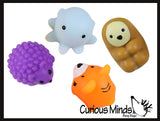 Jumbo Cute Animal Mochi Squishy Animals - Kawaii -  Cute Individually Wrapped Toys - Sensory, Stress, Fidget Party Favor Toy