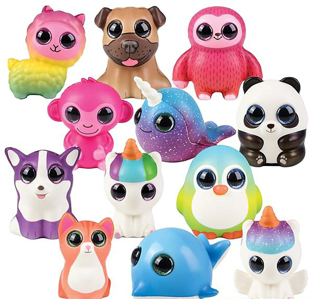 Large Animal Slow Rise Squishies Slow Rise Foam - Scented Sensory, Stress, Fidget Toy - Unicorn, Narwhal, Cat, Dog, Alpaca, Panda, Dolphin, Sloth