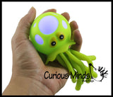 Light-Up Octopus/Jellyfish Bath Toy - Stress Ball - Wiggly Jiggly Squishy Flashing Fidget Ball