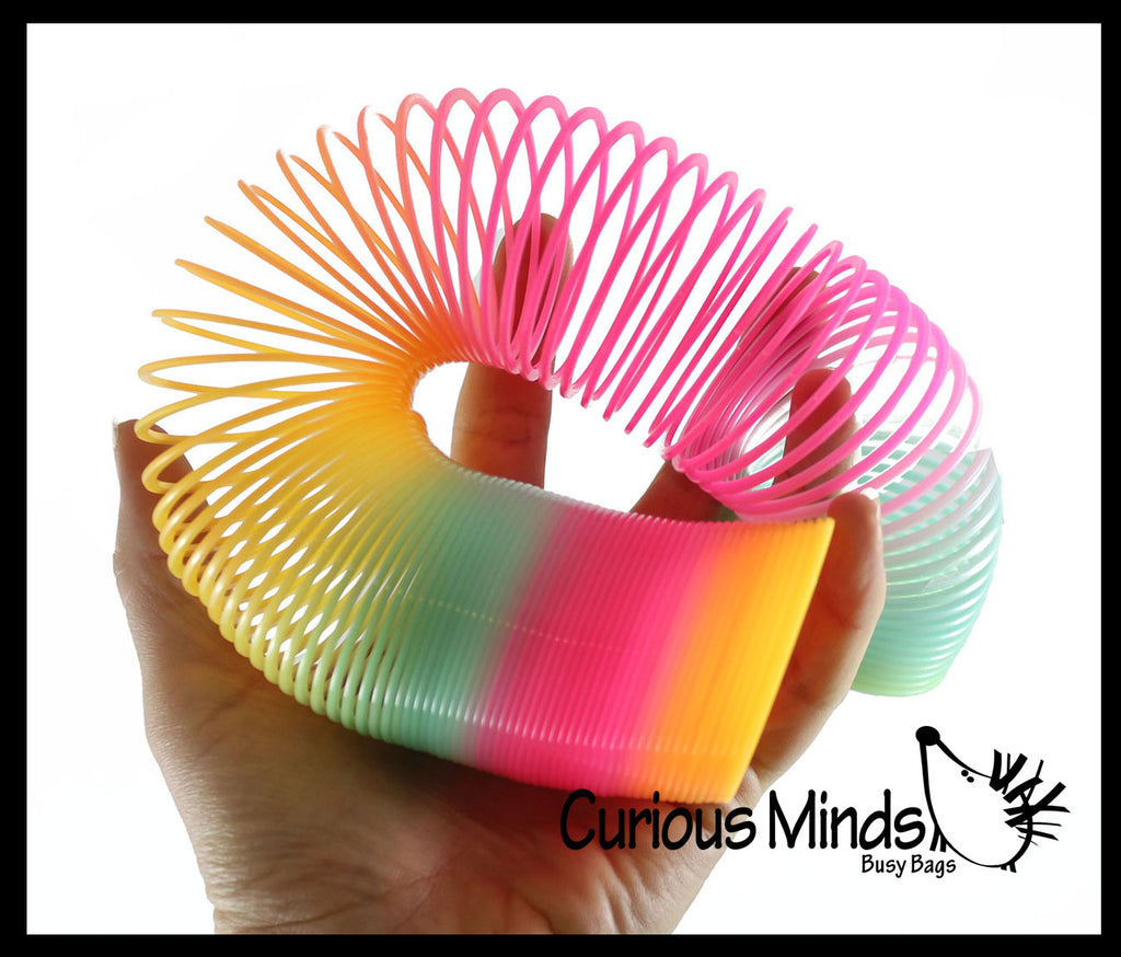 "Super Long 6"" Rainbow Magic Spring Coil Toy -  Sensory Fidget Toy - Relaxing & Mesmerizing - Stair Walking Fun Classic Toy"