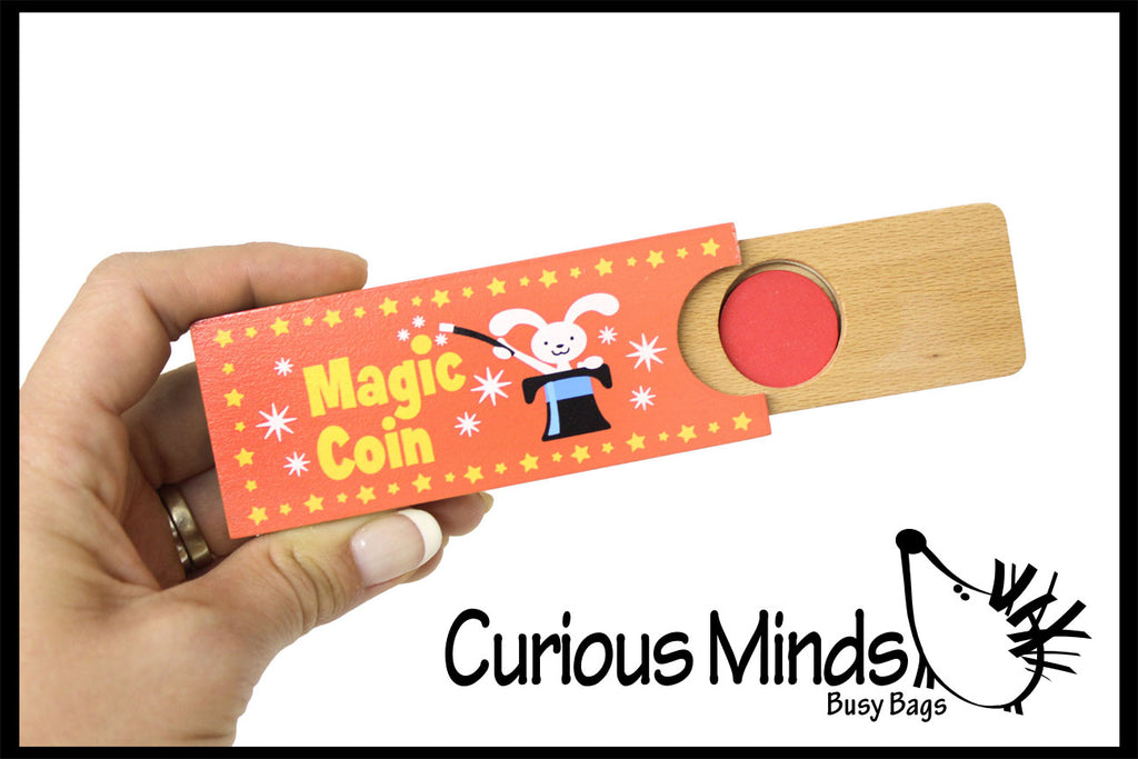 CLEARNANCE - SALE - Magic Coin - Easy Magic Trick for Kids - Wood Toy
