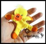 Cute Plush Animal Magnets - Locker Critters - Fridge Magnet - Cute - Magnets in Hands and Feet Fun Decoration