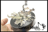 Magnetic Moon and Stars Fidget Sculpture - Office Science Toy