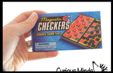 Mini Magnetic Travel Games - Tiny Classic Board Games - Children's Games for Car or Airplane