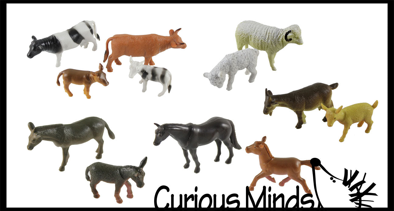 CLEARANCE SALE - Farm Mommy and Baby Animal Figurines Replicas - Matching Game