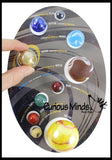 Solar System Display Marbles Model Set  - Educational Learning Toy - Outer Space Planets