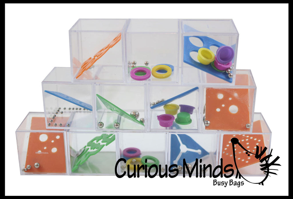 Cube Puzzle Games - Problem-Solving Brain Teaser Logic Maze Toys - Party Favors - Travel Toy - Ball Maze - Puzzle Game Fidget
