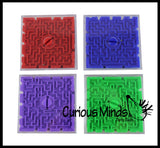 Maze Games - Double-sided Pill Maze Toys - Party Favors - Travel Toy - Ball Maze