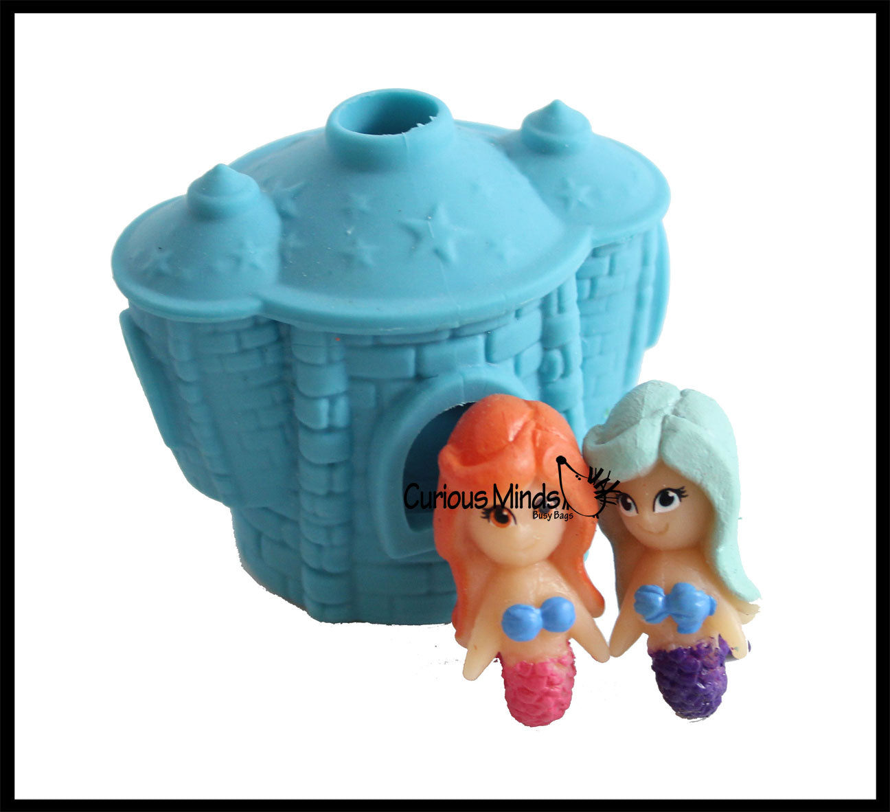 Mermaid in Castle - Peek a Boo / Hide and Seek Stretchy Fidget Toy