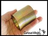 "2"" Metal Colored Magic Spring Coil Toy -  Sensory Fidget Toy - Relaxing & Mesmerizing - Stair Walking Fun Classic Toy"