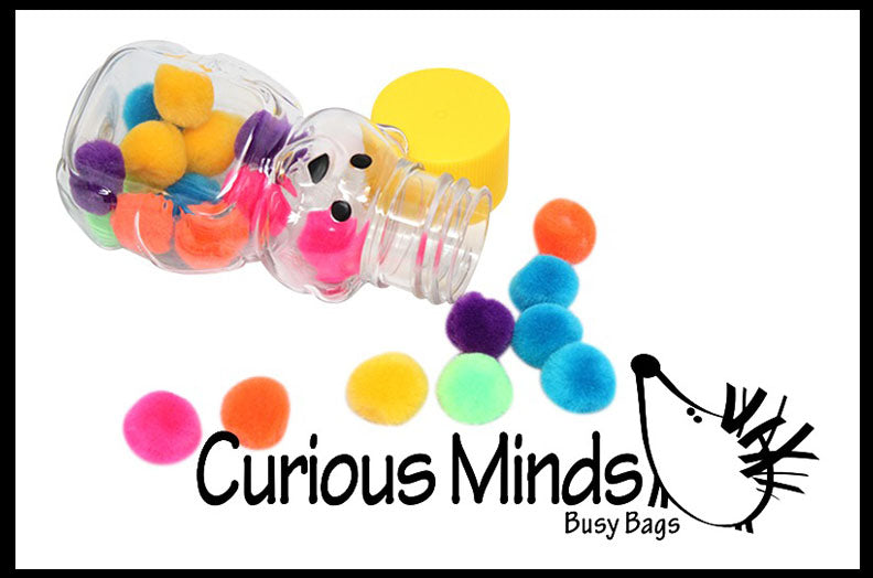 MINI Honey Bear Pom Stuff - Fine Motor Busy Bag
