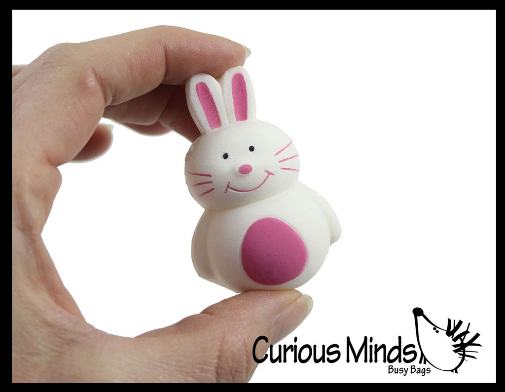 Mini Cute Squishy Slow Rise Bunny Rabbits -  Scented Sensory, Stress, Fidget Toy - Easter Rabbit