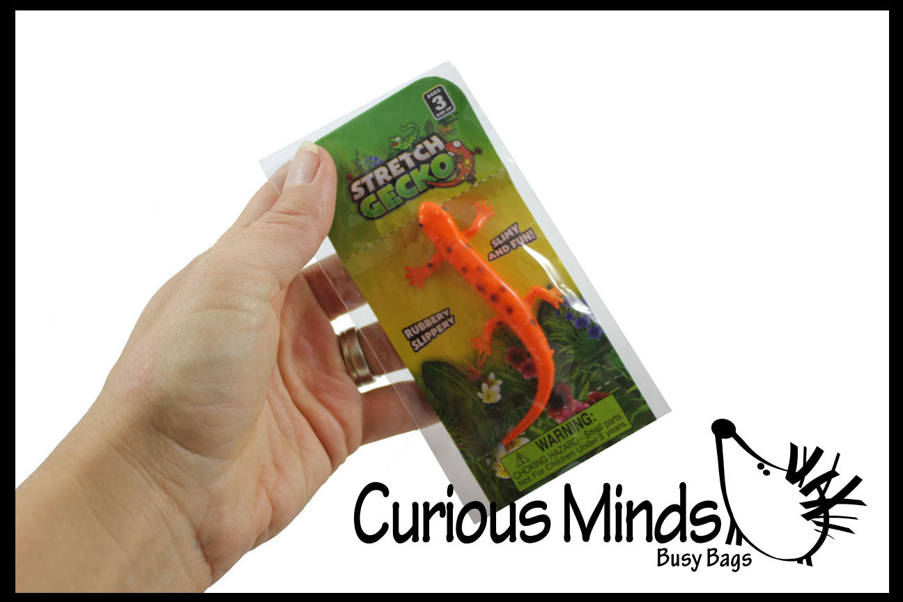 Mini Stretchy Lizards - Sensory Fidget Toy - Individually Wrapped Party Favor Prize Toy