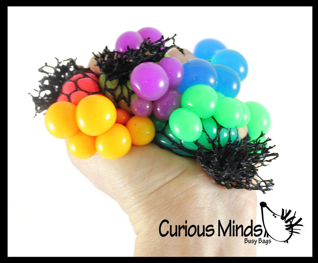 Tiny Mesh Ball - Squishy Fidget Ball with Web Netting - Stress Ball Color Changing Blobs
