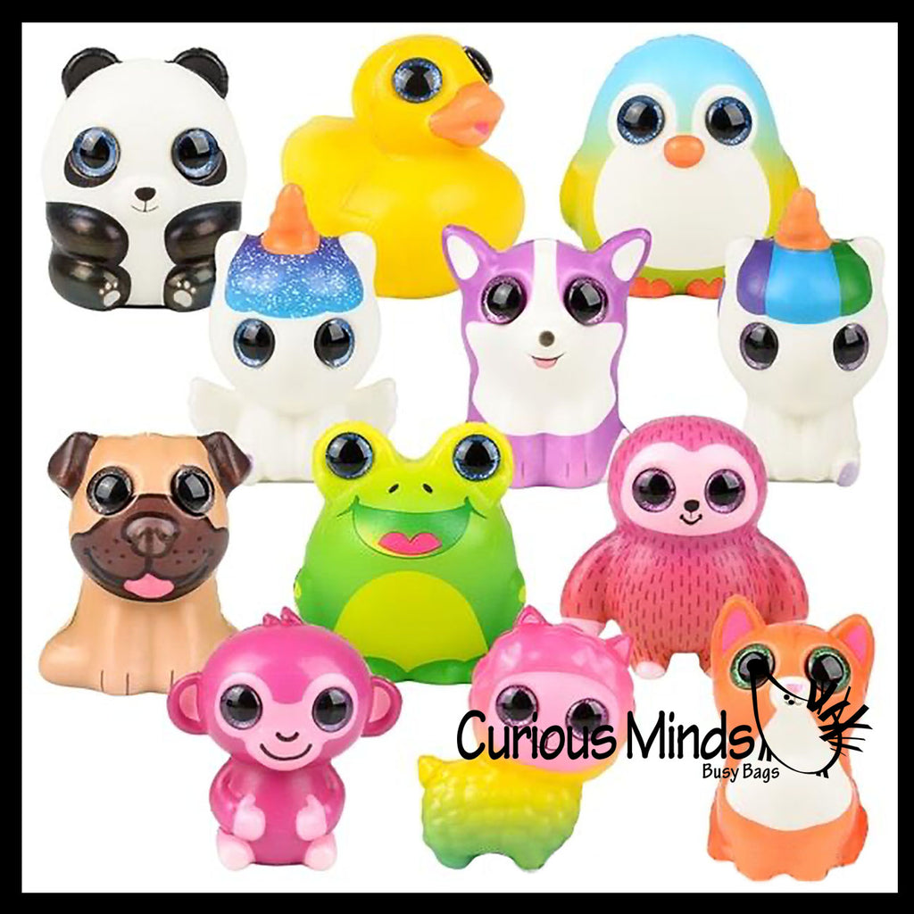 Small Animal Slow Rise Squishies Slow Rise Foam - Scented Sensory, Stress, Fidget Toy - Unicorn, Frog, Cat, Dog, Alpaca, Panda, Duck, Sloth