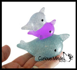 Mochi Squishy Family of Animals - Kawaii -  Sensory, Stress, Fidget Party Favor Toy - Narwhal Dog Unicorn
