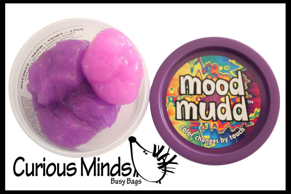 CLEARANCE - SALE - Mood Mudd - Color Changing Heat Sensitive Putty / Slime