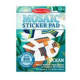 Mosaic Sticker Book - Sticker by Number Activity Book - Relaxing Craft Travel