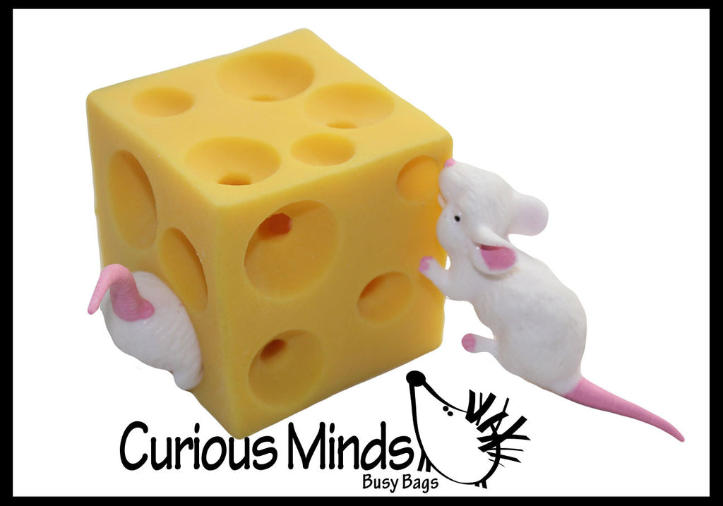 Mouse and Cheese Stretchy Fidget Toy