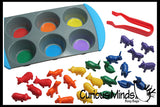 Color Sorting Set - Sorting Tray and Bright Durable Animals to Sort