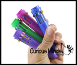 Multiple Tip Colored Pens  - Shuttle Pen with 10 Different Colored Ink Options -  Fidget - Anxiety ADHD
