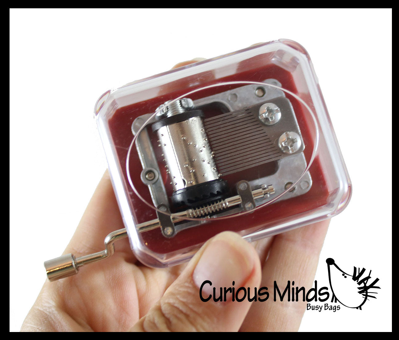 Mini Music Box - Wind Up Classic Toy - Mechanical Musical Toy - Fidget Stress Toy
