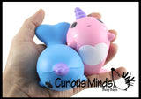 Narwhal Squishy Slow Rise Foam Animal - Cute Scented Sensory, Stress, Fidget Toy