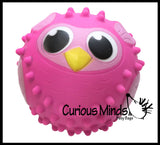 "CLEARANCE - SALE - OWL 5"" Knobby Bumpy Ball Sensory Toy"