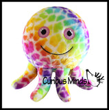 "Octopus Lightweight Plush Inflatable Ball  - 8"" Sports Ball - Indoor Safe Athletic Play Gross Motor Toy"