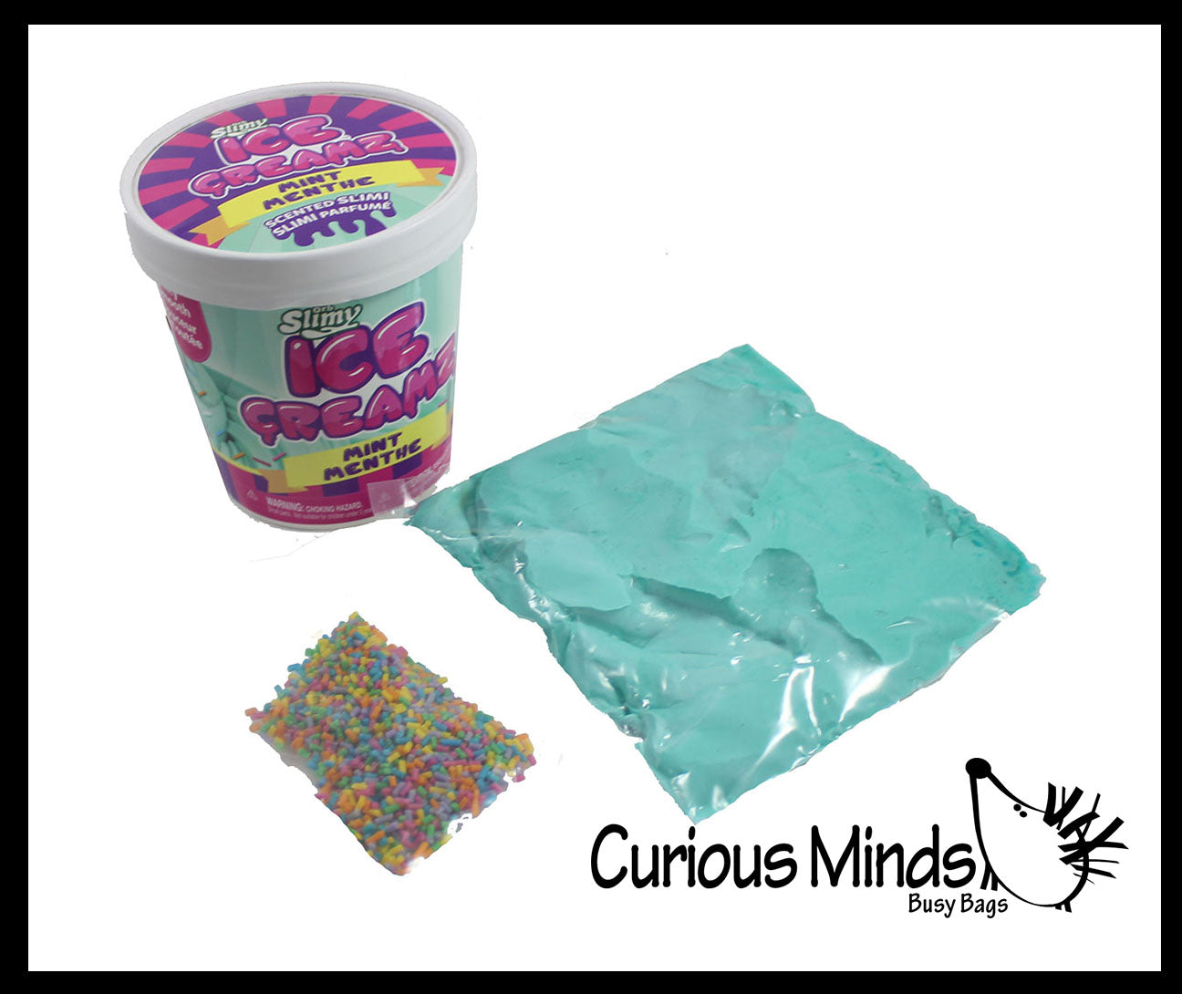 Orb Scented Ice Cream Container Slime - Ultra Soft and Buttery Slime Scented - Mix In Toppings - Putty - Goo