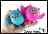 Cute Owl Doh Stress Stretch Ball - Moldable Pinch Poke Sensory Fidget Toy Doughy