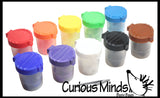 Color Sorting Cups and Poms with Tweezers - Sorting cups