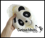"Panda Lightweight Plush Inflatable Ball  - 8"" Sports Ball - Indoor Safe Athletic Play Gross Motor Toy"