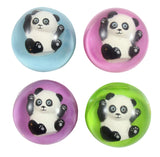 CLEARANCE - SALE - Panda Bear Bouncy Balls - Cute Party Supplies Favor Set - Bouncing Ball