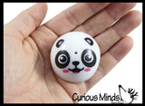 Panda Party Favor Set - Thick Clear Slime with Panda Figurine / Poppers / Bendy Figurines / Bouncy Balls