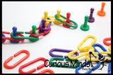 Color Sorting Pawns and Links Learning Toy