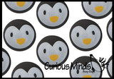 Cute Penguin Bouncy Balls - Cute Winter Party Supplies Favor Set - Bouncing Ball