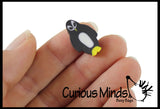 144 (12 Dozen) Black Penguin Mini Erasers - Novelty and Functional Adorable Eraser Novelty Treasure Prize, School Classroom Supply, Math Counters - Sorting - Party Favor